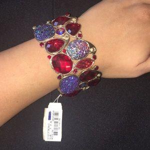 ♦️NWT♦️Statement Bracelet Sparkle Purple and Red
